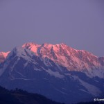 Spectacular morning view of Himalaya from Pokhara, Nepal